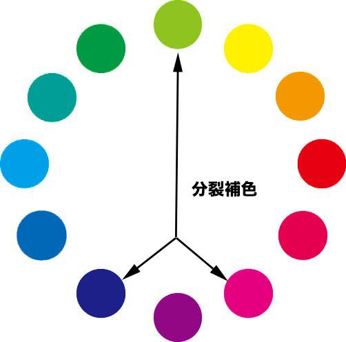 分裂補色配色