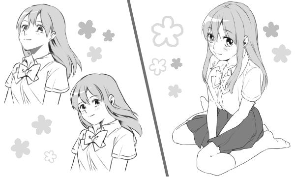 可愛い女の子の描き方(4)