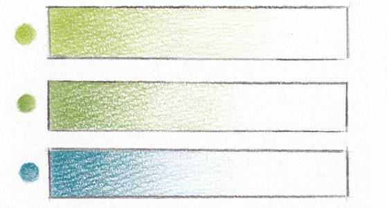 緑と青のグラデーション
