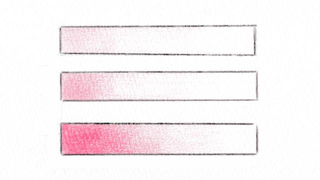色鉛筆のグラデーション