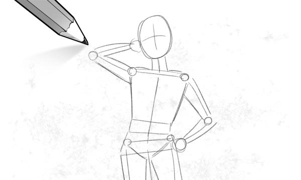 男性 描き方 アタリ