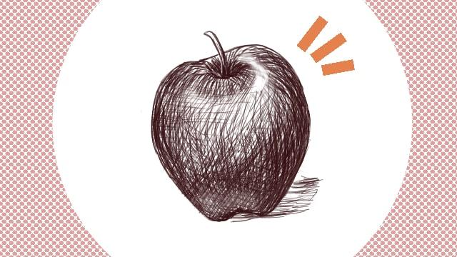 デッサン リンゴ