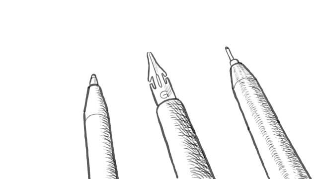 イラストをペン画で描くには特定のモチーフを描けるようになるまでお