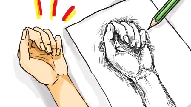 デッサン初心者は手を描くことが良い練習