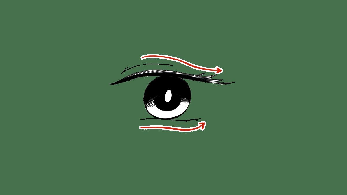 クールな美人の目の描き方