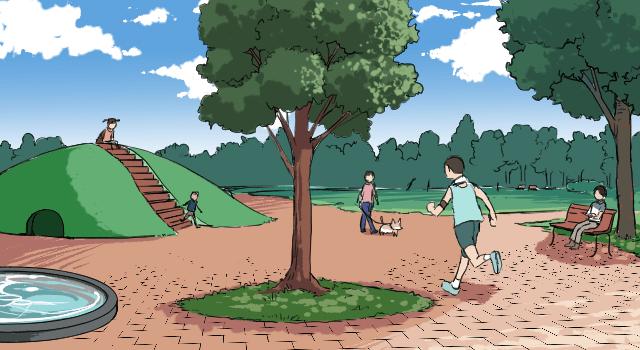 身近な風景画 公園