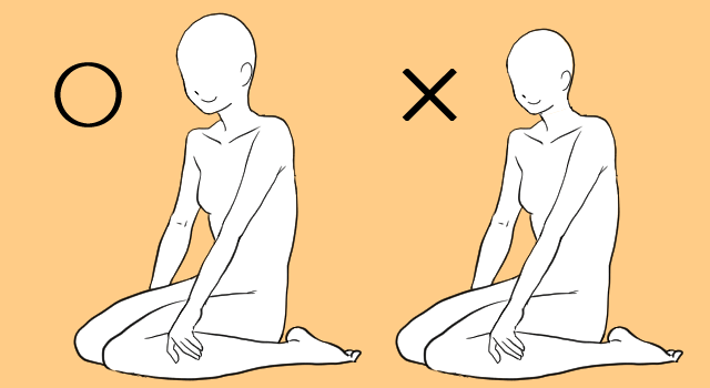 体の比率を考えて描く方法