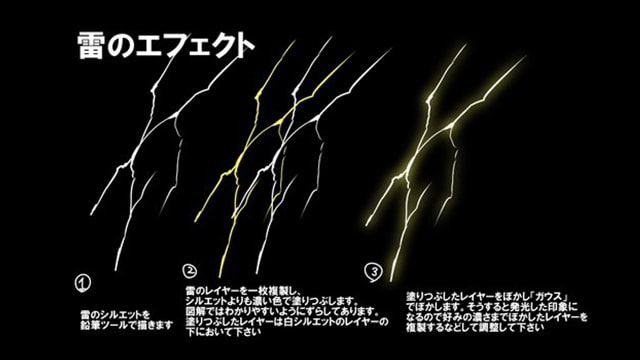 雷のエフェクト