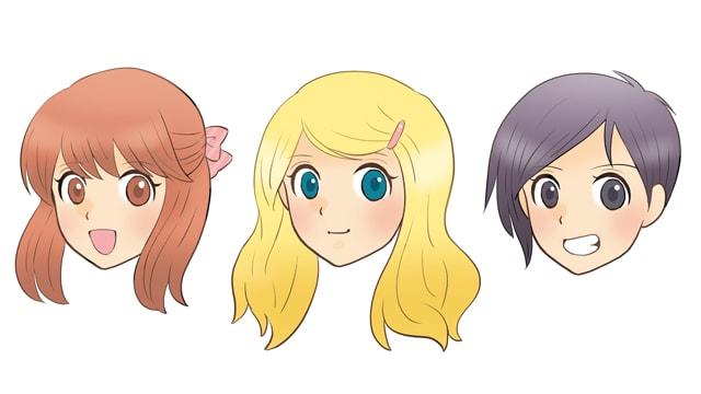 可愛らしさを演出できる髪の描き方