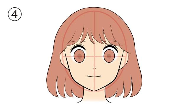 髪の毛は分け目と流れを意識