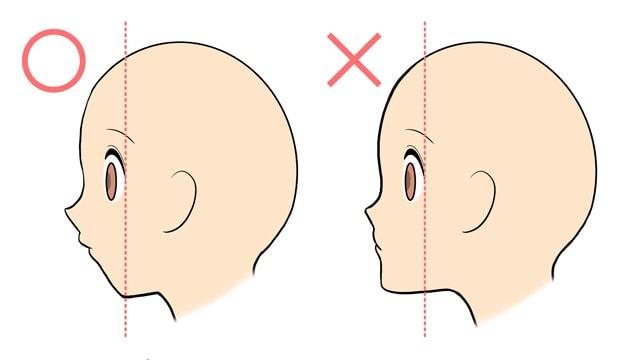 女の子の横顔は顎がポイント