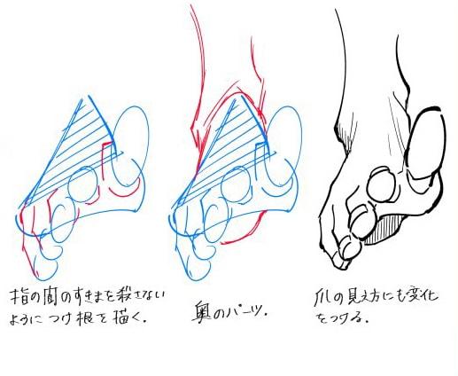 正面から見た足の描き方02