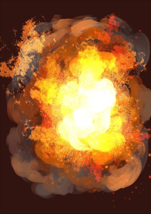 爆発メイキング 完成