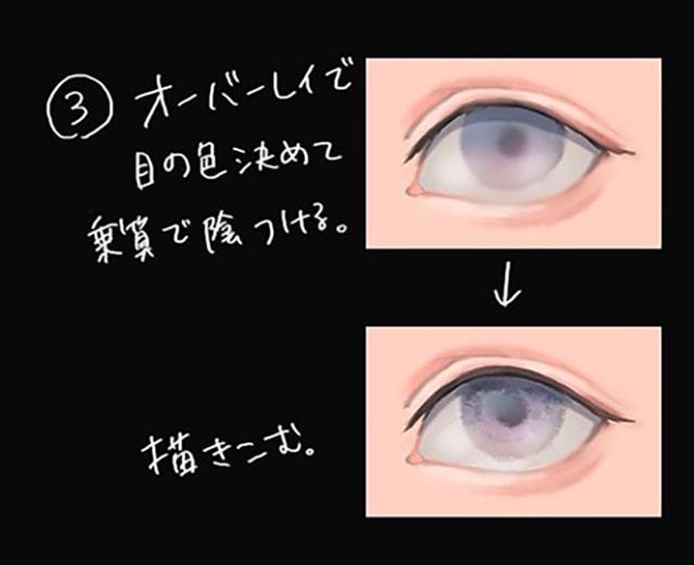 デジタル 目 塗り方 簡単