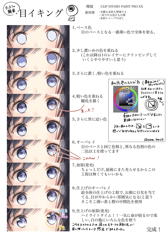 綺麗で印象的な瞳のメイキング