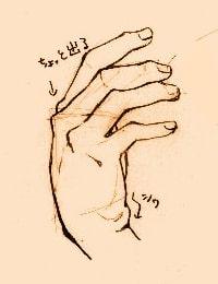 手の描き方のポイント_横から見たときの手
