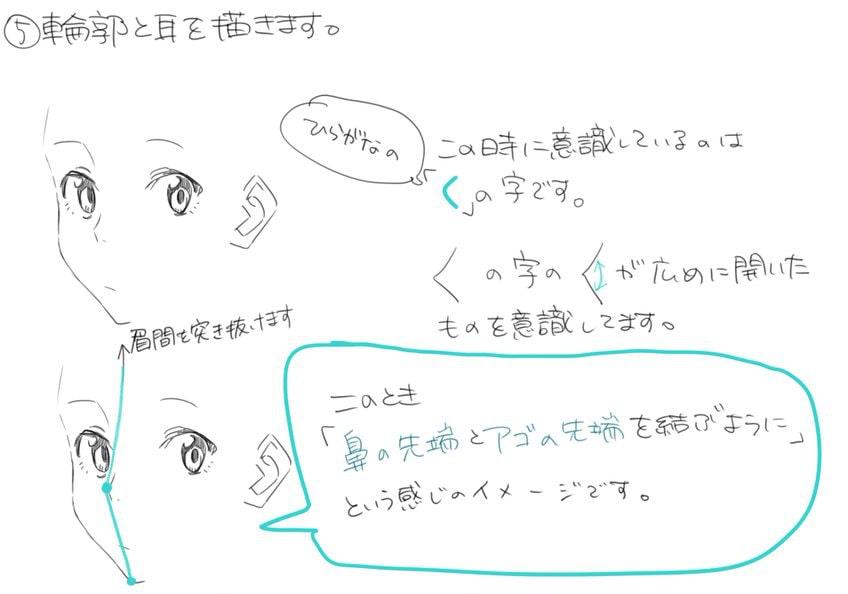 バランスの良い顔の描き方_手順8