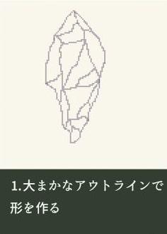 ドット絵で作る鉱石の描き方メイキング_手順1