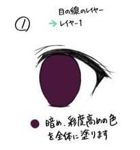 かわいいパッチリ目の簡単メイキング手順1