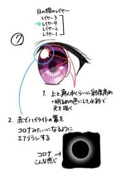 かわいいパッチリ目の簡単メイキング手順7