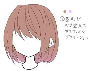 クリスタを使った髪の塗り方メイキング_手順1