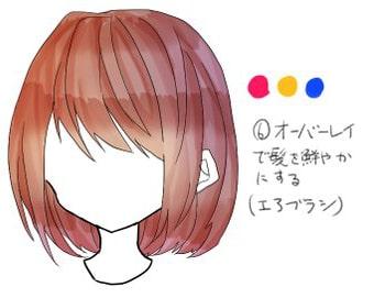 クリスタを使った髪の塗り方メイキング_手順6