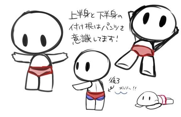 デフォルメキャラクターの描き方 3
