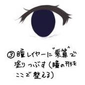澄んだ目の描き方3