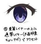 澄んだ目の描き方9