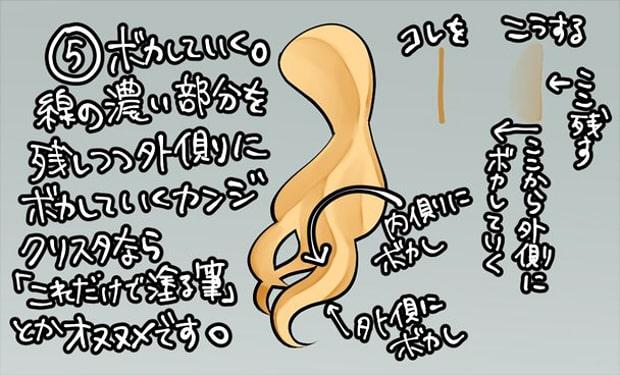 カール髪描き方5