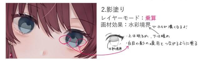 美しい瞳の塗り方2