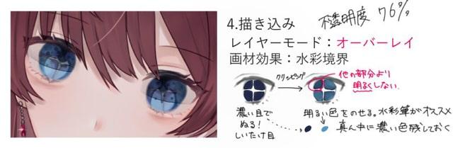 美しい瞳の塗り方4