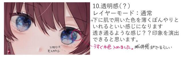 美しい瞳の塗り方10