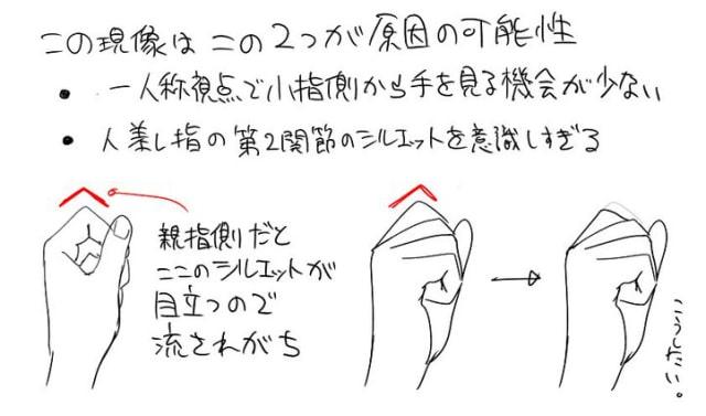 アニメーターの手の描き方3