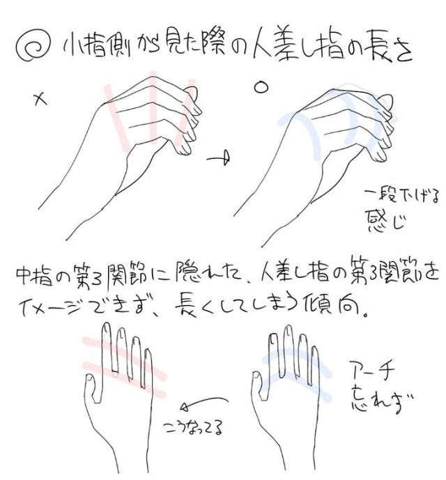 アニメーターの手の描き方1a