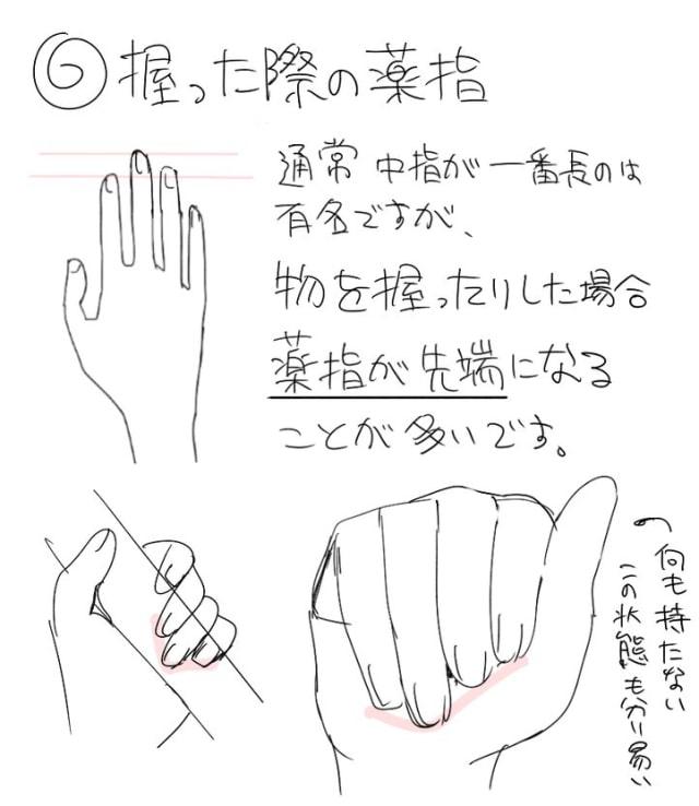 アニメーターの手の描き方4a