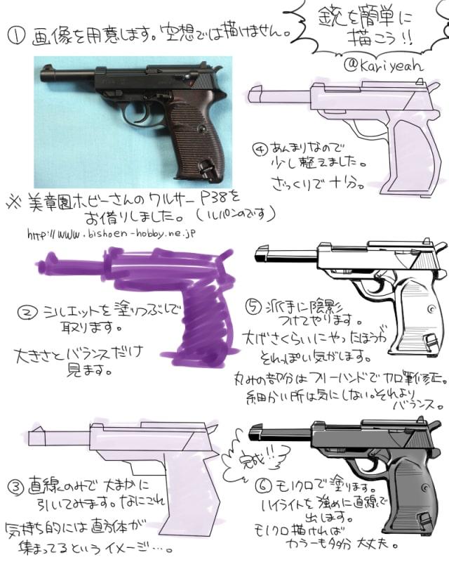銃の描き方0