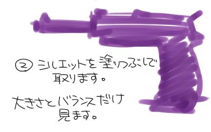 銃の描き方2