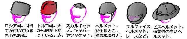 帽子の種類3