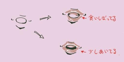 あひる口の描き方2