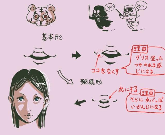 あひる口の描き方3