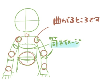 手を前に出す絵の描き方1