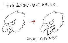 鳥のクチバシの描き方2