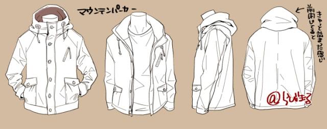パーカー・ブラウス・Tシャツの描き方4