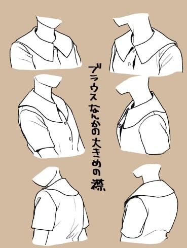 パーカー・ブラウス・Tシャツの描き方5