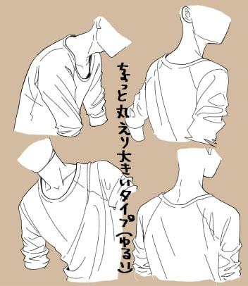 パーカー・ブラウス・Tシャツの描き方6