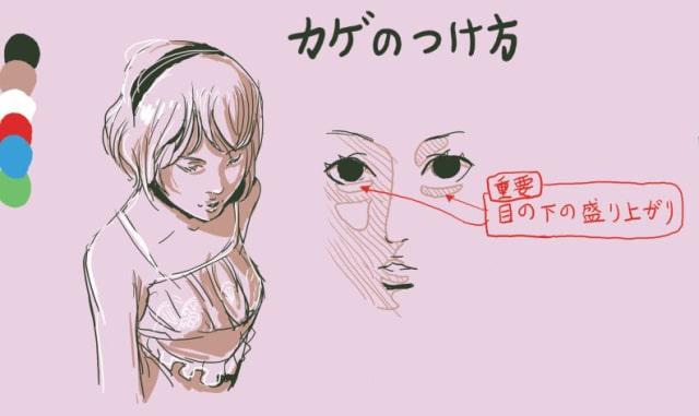 アヒル口の描き方6