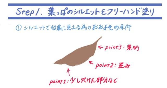 落ち葉の描き方1