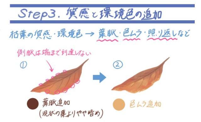 落ち葉の描き方5