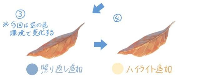 落ち葉の描き方6